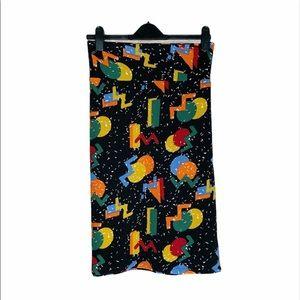 Lula Roe 2x printed Cassie skirt, NWT